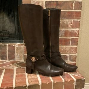 Tory Burch Chocolate Brown Riding Boots